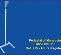 Pedestal para manequim base H