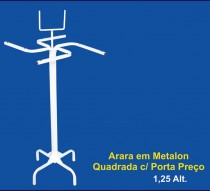 ARARA EM METALON QUADRADA C/ PORTA PREÇO REF. 1300