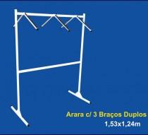 ARARA COM 03 BRAÇOS DUPLOS 1,53 X 1,24 REF. 1364