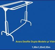 ARARA DESFILE SIMPLES COM VIDRO 1,20 X 0,40 REF.1305