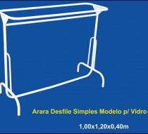 ARARA DESFILE SIMPLES COM VIDRO 1,20 X 0,40 REF.1304