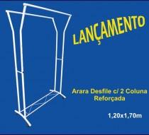 ARARA 2 COLUNAS REFORÇADAS BRANCO/PRETO 1,20 X 1,70 REF.125323