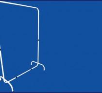 ARARA DESFILE SIMPLES 1,20 X 1,70M  BRANCO/PRETO REF. 1301